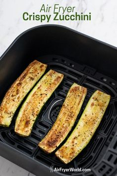Air Fryer Zucchini Recipe that's quick, easy and healthy. This air fried zucchini recipe with garlic is low carb, paleo and easy keto recipe Fried Zucchini Recipes, Roast Zucchini, Zucchini Fries, Garlic Recipes, Baked Fried Zucchini, Stuffed Zucchini Recipes, Chicken Zucchini, Healthy Zucchini, Keto Recipes
