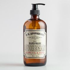 One of my favorite discoveries at WorldMarket.com: World Market® Apothecary Lavender Rosemary Hand Soap