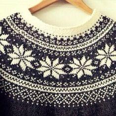 Knitting Pattern Beautiful Norwegian Sweater by silverishmoon Knitting Gauge, Knitting Stitches, Sweater Knitting Patterns, Knit Patterns, Icelandic Sweaters, Fair Isle Pattern, Fair Isle Knitting, Girls Sweaters, Knitting Projects