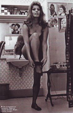 Here's how to remove stockings like Sophia Loren http://www.burlexe.com/how-to-remove-stockings/