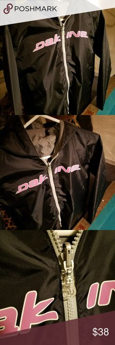 """Lightweight Jacket DAK INE lettering▫Amazing new reversible jacket with bold colors!  No tags of any sort, cannot tell if it's authentic DAKINE clothing.  Measures Laying Flat  20"""" From underarm to underarm 25"""" Top of the shoulder to the bottom   Please ask for any size questions.  Looks to be about a medium in women's. Dakine Jackets & Coats"""