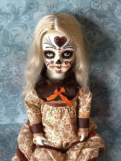 Sugar Skull doll by FindersCreepers on Etsy, $60.00