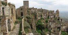 Deserted city of Craco (1975) in Italy
