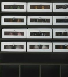 Clever storage from ikea, love the window for easy pickings