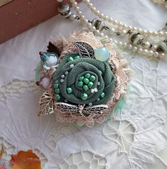 Брошь в стиле Бохо / Brooch in the style of boho. Handmade. DIY