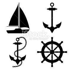 marine life icon set stock vector nautical pinterest icon