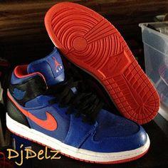 huge discount f1eaa 32f84 air jordan 1 mid knicks sample 02 570x570 Air Jordan 1 Mid Knicks Sample Jordan  1