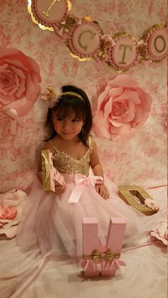 Pink and gold dress Gold dress Flower Girl by HeidiPartyCreations