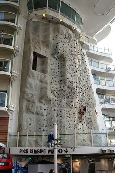 Rock Climbing Wall on Oasis of the Seas The Rock Wall overlooks the Aqua Theatre onboard the Oasis of the Seas To tell the story of jazz without Louis Armstrong up top is to cut off the head of the living organism that is jazz. Armstrong was a giant of a trumpeter, he was an influential singer and perhaps most important, he transformed jazz from a strictly in