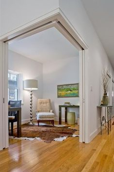 Large sliding doors to open office/den to hallway - State Street, Brooklyn Heights | BAXT INGUI