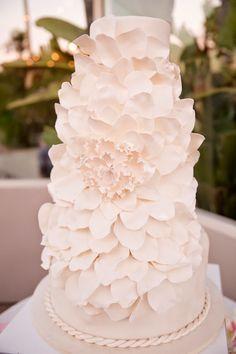 Gorgeous wedding cake ~ Colorful Snapshots Photography, Pacific Bakery | bellethemagazine.com