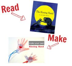 Preschool Story Book Craft - The Kissing Hand