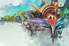 Bird of Paradise by Android-Jones on DeviantArt Android Jones, Flight Patterns, Framed Prints, Canvas Prints, Colorful Birds, Exotic Birds, Little Birds, Psychedelic Art, Animal Design