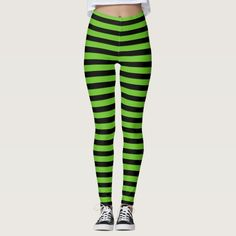 1fcee7e349dae Adult Green & Black Striped Tights | Nelson | Striped tights, Tights ...