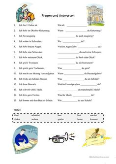 Preschool Learning, Teaching, German Grammar, German Language Learning, Back 2 School, Grammar And Vocabulary, Kids And Parenting, Worksheets, Activities For Kids