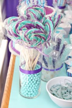 Hostess With The Mostess®   Purple And Aqua Carnival Baby Shower