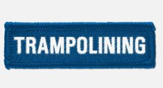 'Trampolining' woven cloth badge with overlocked edges, various colours are available. *colours may vary slightly in shade due to differing monitor colours and manufacturing processes Size School Badges, School Shopping, Lapel Pins, Monitor, Colours, Clothes, Outfits, Outfit Posts, Kleding