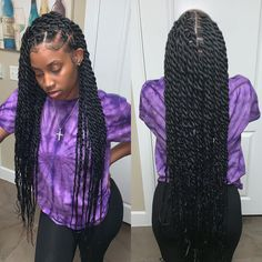 twist hairstyles For Black Women - Hottest Hair Color Trends for Women in 2019 Twist Braid Hairstyles, Braided Hairstyles For Black Women, African Braids Hairstyles, Cool Hairstyles, Hairstyle Ideas, Hair Ideas, Protective Hairstyles, Senegalese Twist Hairstyles, Black Hairstyles