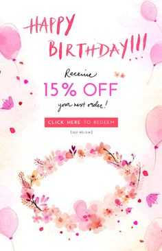 A big collection of real life transactional emails: Welcome campaigns, Happy Birthday emails, abandoned cart reminders, reactivation emails and more! Happy Birthday Email, Birthday Rewards, Birthday Wishes, Email Template Design, Email Templates, Email Design Inspiration, Promotional Design, Newsletter Design, Email Campaign