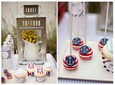 nautical cake pops - Nautical themed baby shower by A Blissful Nest