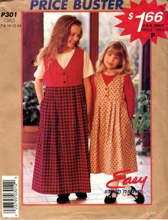 fc881fb3cc41e9 Items similar to McCalls 8341 Girls V Neck Button Front Jumper Pleated Skirt  Long Short Sleeve Top Sizes 2-3-4-5-6 UNCUT on Etsy