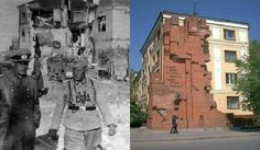 Then& Now: Generalmajor Rolf Wuthmann, 295th Inf. Division and Oberest Otto Korfes, Pavlov's House, Stalingrad.