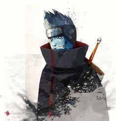 --Kisame Hoshgaki`Monster of the Hidden Mist-- Before becoming known as a member of the Seven Ninja Swordsmen of the Mist, Kisame was assigned to the Cy. Naruto Shippuden, Naruto E Boruto, Shikamaru, Kakashi Hatake, Gaara, Anime Naruto, Naruto Art, Akatsuki, Mirai Nikki Future Diary