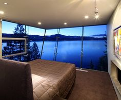 Floor-to-ceiling windows with lake view - Crystal Bay, NV