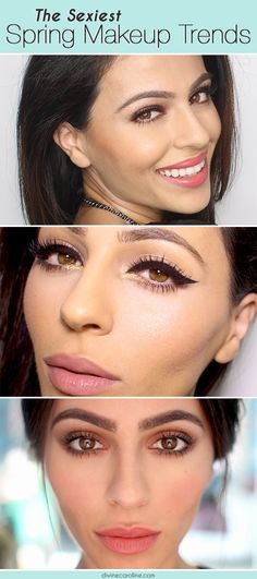 You can easily copy this spring's hottest makeup trends at home. Think gold accents, berry lips, and more! #makeup #trends #spring #spring2014