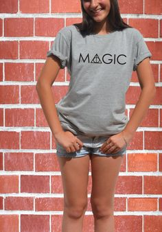 MAGIC t shirt Harry potter clothing  Deathly hallows Hogwarts Ron Weasley Magic wand tee HP gift for teenager boy girl