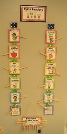 Use the Habits with class jobs!Little Lovely Leaders: Classroom Complete! Classroom Jobs, Classroom Organisation, Classroom Behavior, Classroom Setup, Classroom Displays, School Organization, Kindergarten Classroom, Classroom Design, Classroom Management