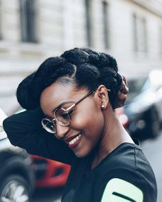 See this Instagram photo by @musesuniform • L: Pic by @leshommesheureux || protective hairstyles. Natural hairstyles. Hairstyles for natural hair.