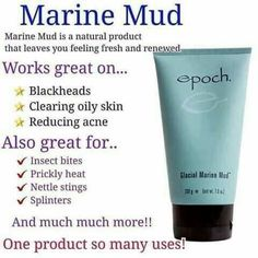 This skin renewing estuary treasure helps exfoliate dead skin cells, remove skin contaminants, and rejuvenate damaged or troubled skin. It nurtures your skin with more than 50 beneficial minerals and trace elements, including zinc and sea botanicals. Epoch Mud Mask, Marine Mud Mask, Glacial Marine Mud, Skin Cleanse, Beauty Bar, Anti Aging Skin Care, Health And Beauty, Nu Skin Mud Mask, Dead Skin