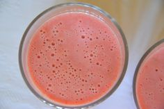 Batido de Morango e Banana (Strawberry and Banana Smoothie)