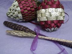 Lavender Stalk Christmas Ornaments