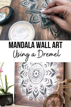 Learn how to create a mandala inspired piece of wall art from wood using a dremel. Step-by-step tutorial at Anikas DIY Life. #mandala #woodart #AnikasDIYLife Kreg Jig Projects, Scrap Wood Projects, Woodworking Projects That Sell, Diy Home Decor Projects, Diy Woodworking, Wood Projects For Beginners, Wood Working For Beginners, Dremel Wood Carving, Wood Art