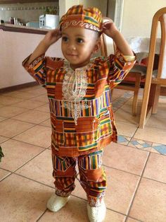 kente cloth baby outfit - Google Search