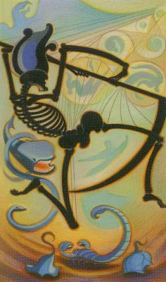Death - Liber T Tarot / Tarot of Stars Eternal Tarot Death, Tarot Tattoo, Le Tarot, Pagan Art, Tarot Major Arcana, Tarot Card Decks, Animal Skulls, Crowley, Samhain