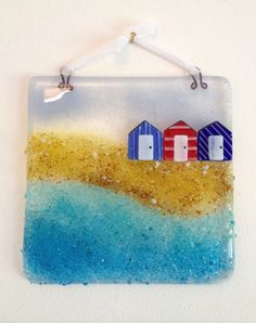 Beside the Seaside Fused Glass Picture £21.95