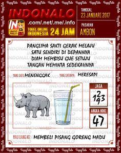 Nomer Mimpi 3D Togel Wap Online Live Draw 4D Indonalo Ambon 23 Januari 2017