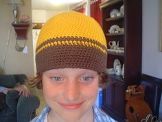Free pattern @ Ravelry - single crochet beanie with sizes for men, women & youth