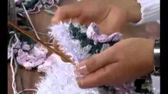 vitrine do artesanato tapete gerbera maria jose - YouTube