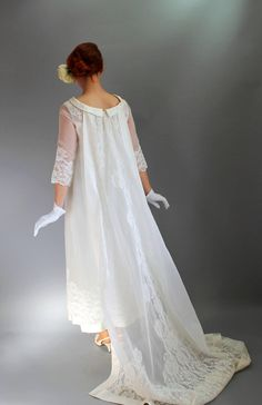 40 Off Sale Vintage 1960s Long Lace Wedding Dress by gogovintage, $165.00