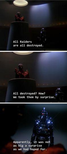 Cylon centurion sarcasm / Battlestar Galactica
