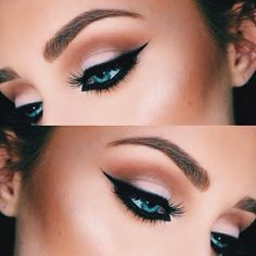 That eyeliner though.... #MakeUpGoals