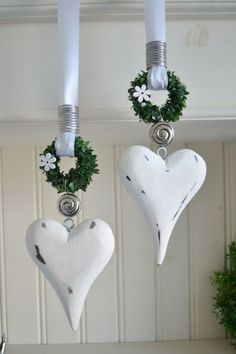 Métal Coeur étoile arbre cintre au choix de Noël Advent türkranz Décoration