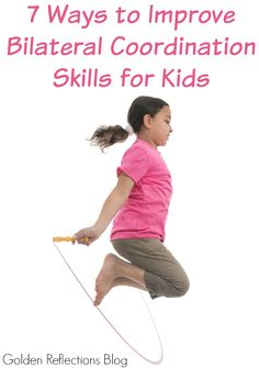 7 tips for improving bilateral coordination skills with kids. 7 tips for improving bilateral coordination skills with kids. Gross Motor Activities, Movement Activities, Gross Motor Skills, Sensory Activities, Therapy Activities, Activities For Kids, Activity Ideas, Therapy Ideas, Sensory Kids