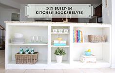 HomeRight Bookcase Challenge--Billy Bookshelf to Kitchen Bookshelves Hack
