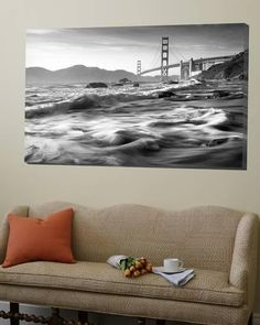 California, San Francisco, Golden Gate Bridge from Marshall Beach, USA Loft Art by Alan Copson at Art.com