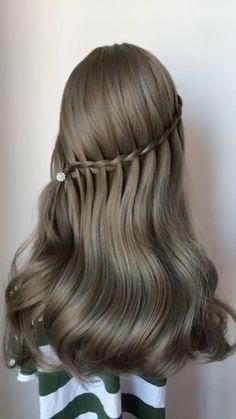 wedding Hairstyles easy Hairstyles Hairstyles for school party Hairstyles Hairstyles for round faces Romantic Hairstyles, Wedding Hairstyles, Cool Hairstyles, Hairstyles Videos, Bridal Hairstyle, Easy Braided Hairstyles, Fringe Hairstyle, Easy Hairstyles For Long Hair, Casual Hairstyles